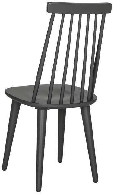 Burris 17''H Spindle Side Chair (Set of 2) - Black- Arlo Home - Arlo Home
