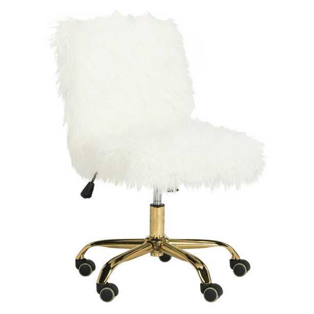 Whitney Task Chair Frame Finish: Gold - Perigold