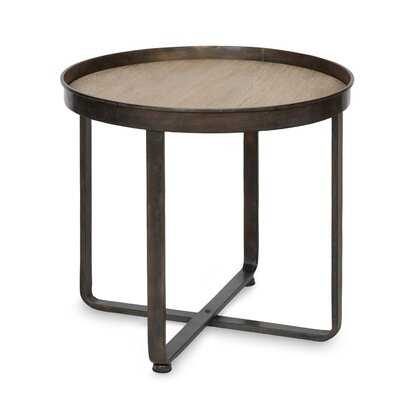 Quiles Round Metal End Table - Wayfair