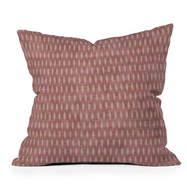 "Umbra Ikat Marsala by Holli Zollinger - Outdoor Throw Pillow 18"" x 18"" - Wander Print Co."