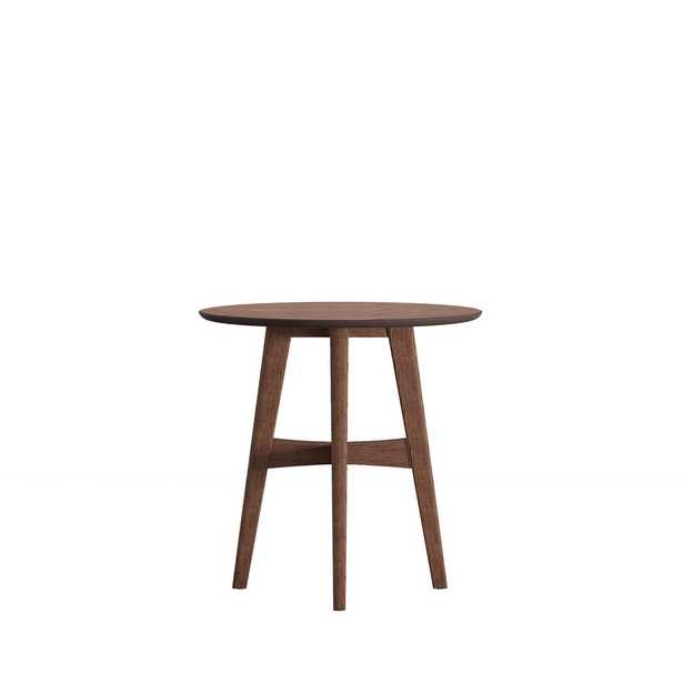 Calamar Walnut (Brown) Mid Century Accent Table - Home Depot