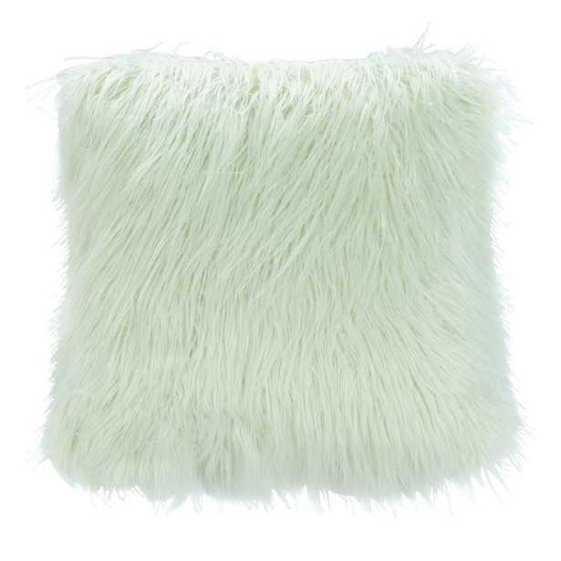 Safavieh Caelie Faux Fur Mint 20 in. x 20 in. Throw Pillow, Green - Home Depot
