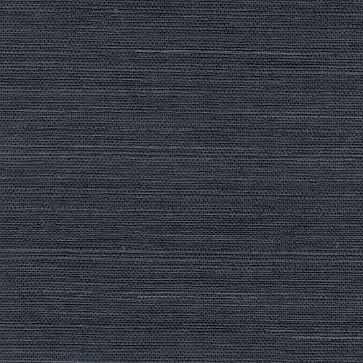 Peninsula Navy Sisal Grasscloth Wallpaper - West Elm