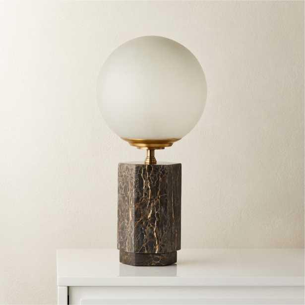 Charade Marble Globe Table Lamp - CB2