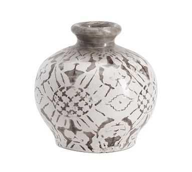 Collette Floral Vase, Gray, Bud - Pottery Barn