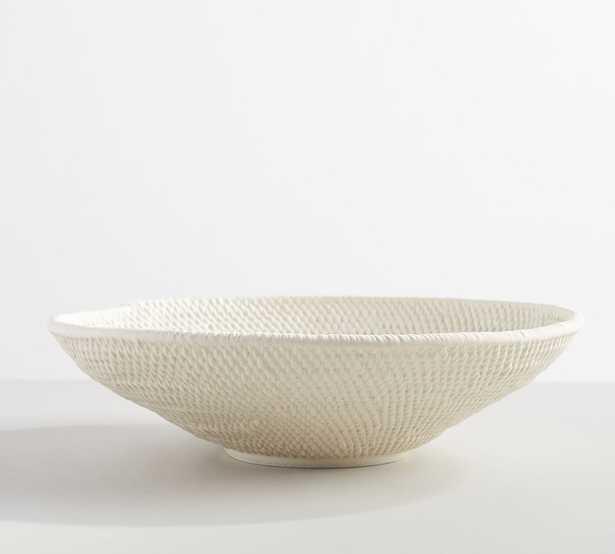 Frasier Textured Ceramics, Large, White - Pottery Barn