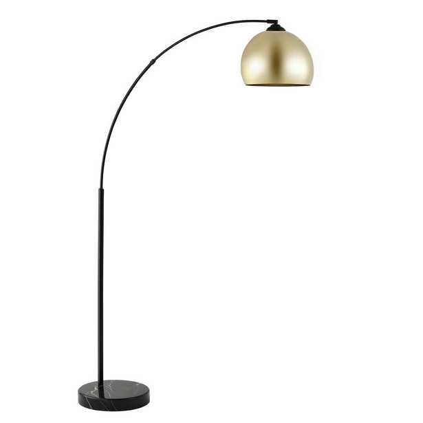 Safavieh Glarien 70 in. Gold/Black Floor Lamp - Home Depot