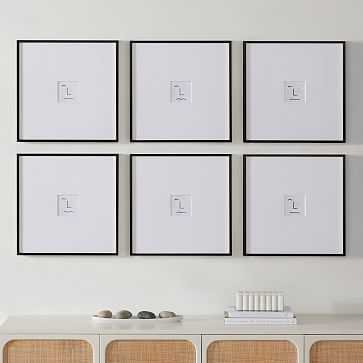Metal Gallery Frame Square, Black Powder Coated, 18X18 in Set of 6 - West Elm