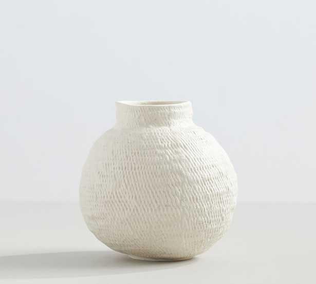 Frasier Textured Ceramics, Small, White - Pottery Barn