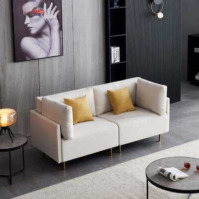 Polyester Loveseat Sofa With Metal Legs 2-Seat Sofa For Living Room - Wayfair