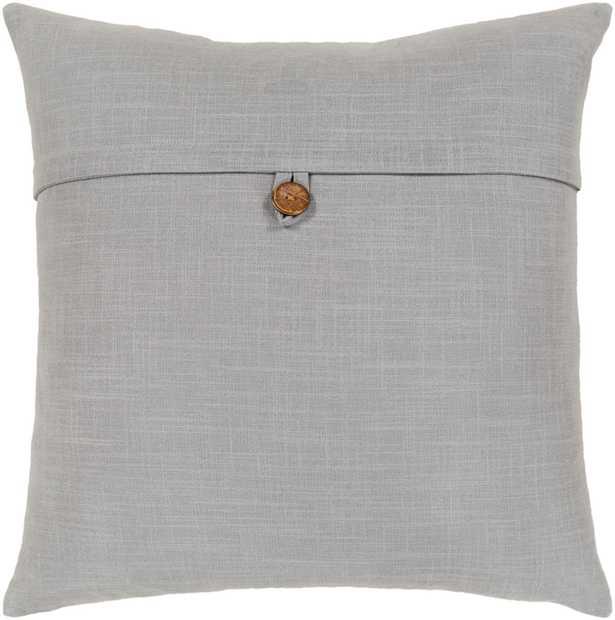 "Perine Pillow Cover, 18""x 18"", Light Grey - Cove Goods"