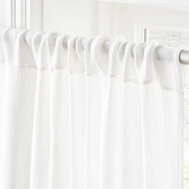 "Hemp White Curtain Panel 48""x120"" - CB2"