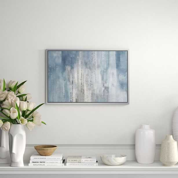 """JBass Grand Gallery Collection 'Hues of Blue II' - Print on Canvas Size: 19.75"""" H x 29.75"""" W x 1.5"""" D - Perigold"""