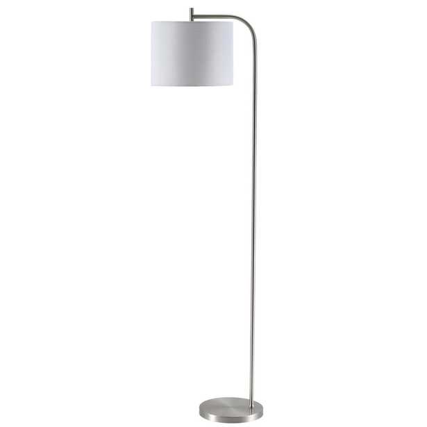 Safavieh Rafin 61.5 in. Nickel Floor Lamp with Off White Shade - Home Depot