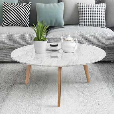 Iola Round Marble Coffee Table - Wayfair