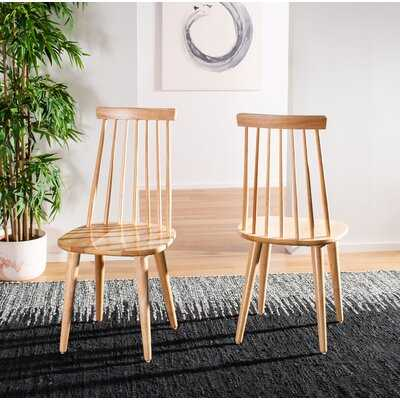 Teo Solid Wood Dining Chair Set of 2 - Wayfair