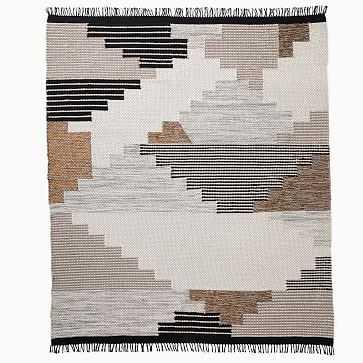 Colca Wool Rug, 8x10, Flax - West Elm