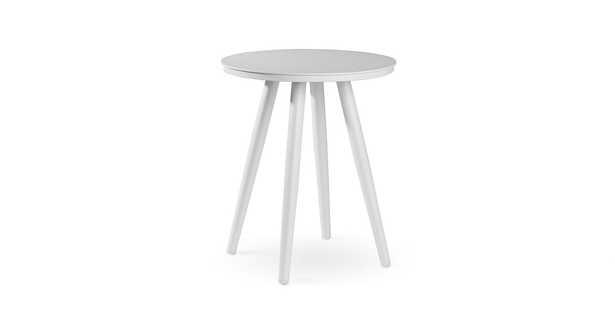 """Halden Alpine White 16"""" Round Side Table - Article"""