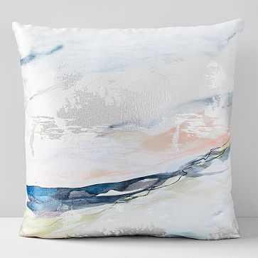"""Landscape Dreams Brocade Pillow Case, Multi, 24""""x24"""" - West Elm"""