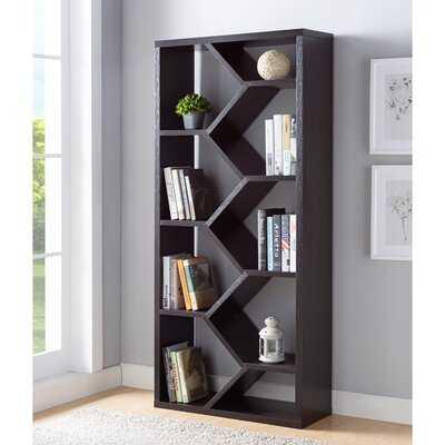 Sion Vertical Accent Geometric Bookcase - Wayfair