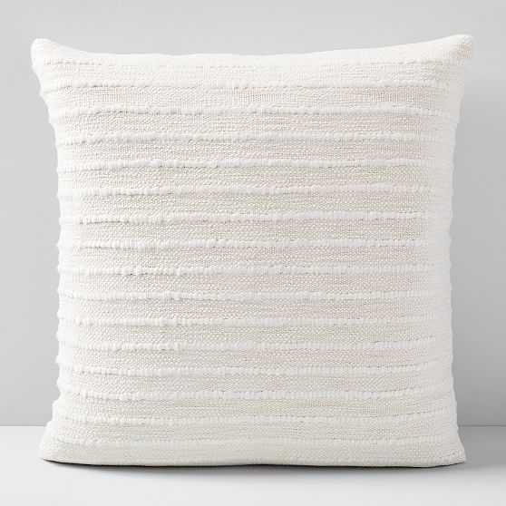 """Soft Corded Pillow Cover with Down Alternative Insert, Natural Canvas, 20""""x20"""" - West Elm"""