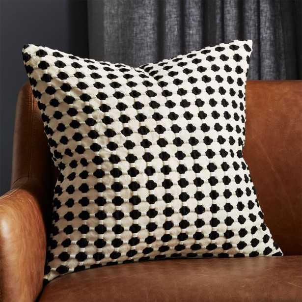 "20"" Estela Black and White Pillow with Down-Alternative Insert - CB2"