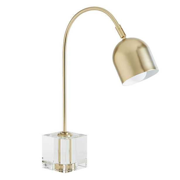 Crystal Cube Task Lamp, Clear/Gold - Pottery Barn Teen