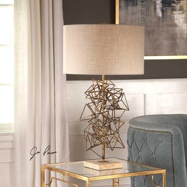 Vasaya Abstract Gold Table Lamp - Hudsonhill Foundry
