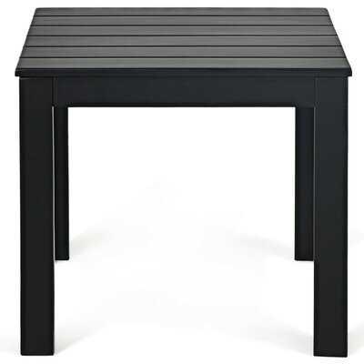 Jhaniah Solid Wood Side Table, Black - Wayfair