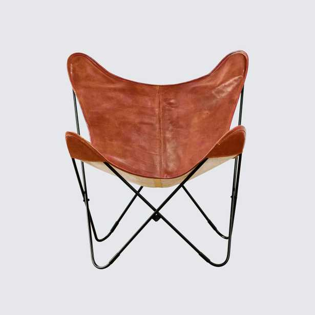 Palermo Butterfly Chair – Black & Cognac By The Citizenry - The Citizenry