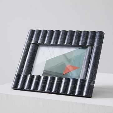 """Stacked Marble Frame, Stacked Rectangle, 4""""x6"""", Black - West Elm"""