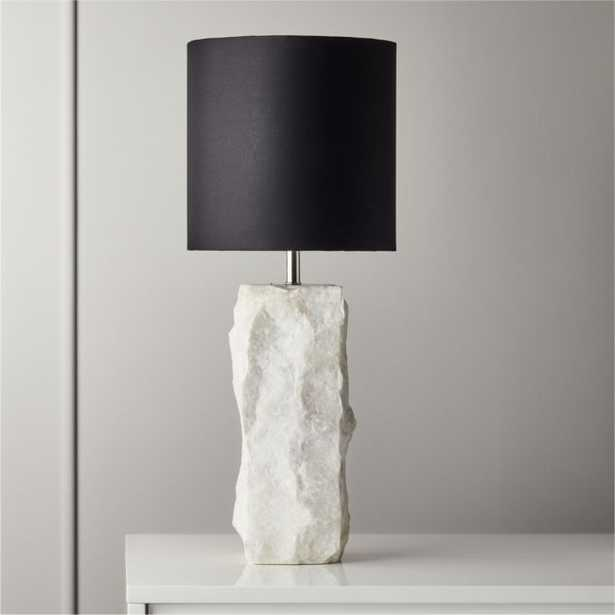 Raw Marble Table Lamp - CB2