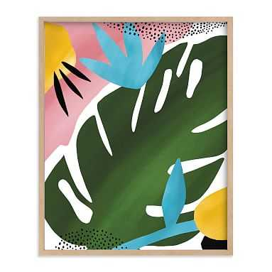 Tropical Palm Framed Art by Minted(R), Natural, 16x20 - Pottery Barn Teen