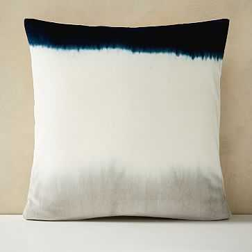 "Dip Dye Pillow Cover, 20""x20"", Stone Gray - West Elm"