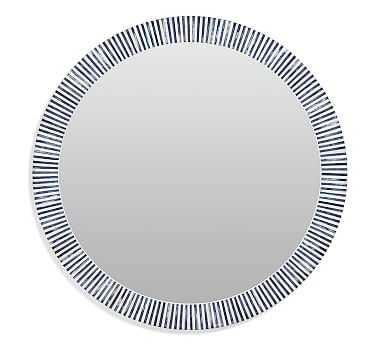 """Ava Bone Round Wall Mirror, 36"""" - Pottery Barn"""