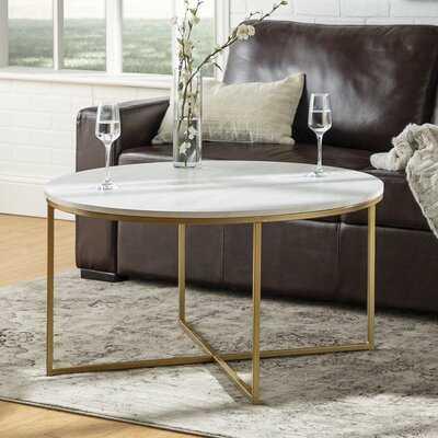 Wasser Coffee Table, Gold - Wayfair