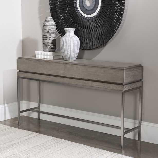 Kamala Gray Oak Console Table - Hudsonhill Foundry