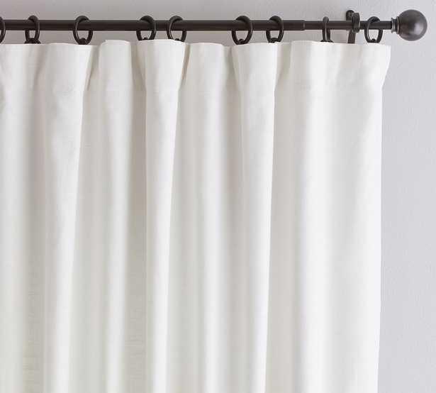 "Custom Emery Linen/Cotton Rod Pocket Curtain, White, 36 x 45"" - Pottery Barn"