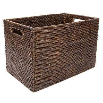 Rattan Legal File Basket with Cutout Handles - Wayfair