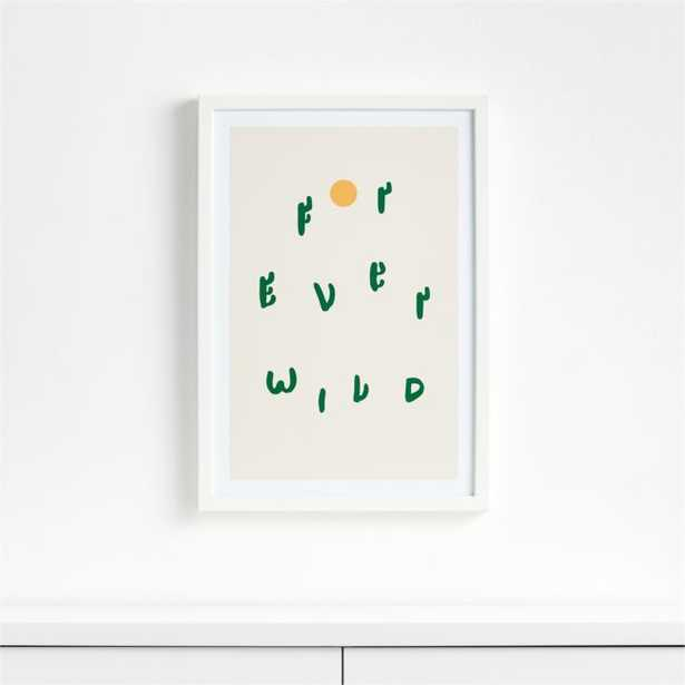Forever Wild Cacti Framed Wall Art - Crate and Barrel