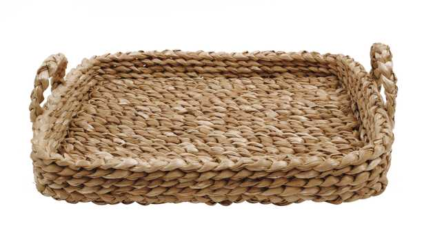 Bankuan Braided Tray with Handles - Nomad Home