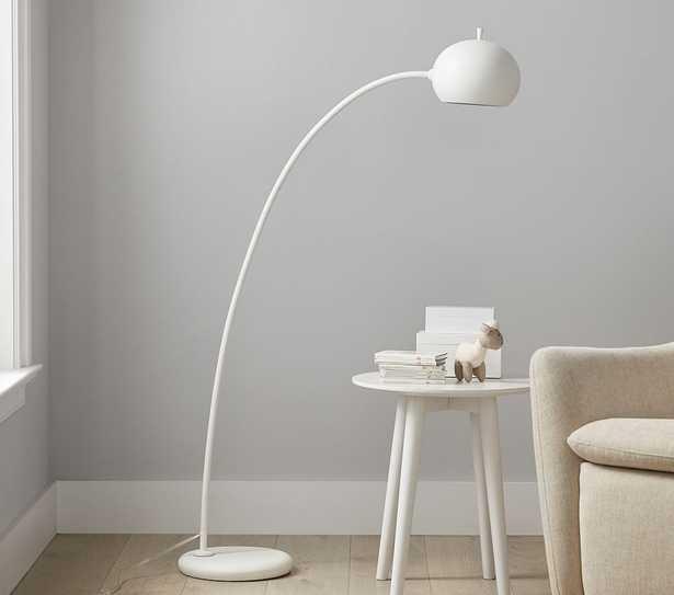 west elm x pbk Petite Arc Floor Lamp, White - Pottery Barn Kids