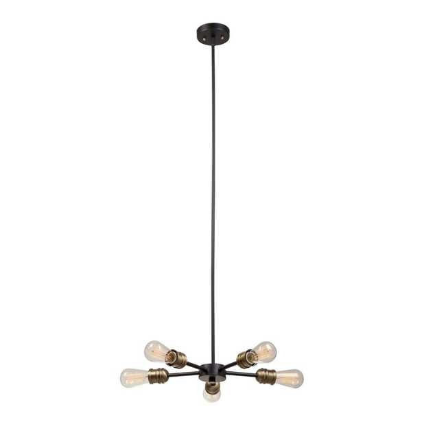 Globe Electric Beaugard 5-Light Matte Black Chandelier - Home Depot