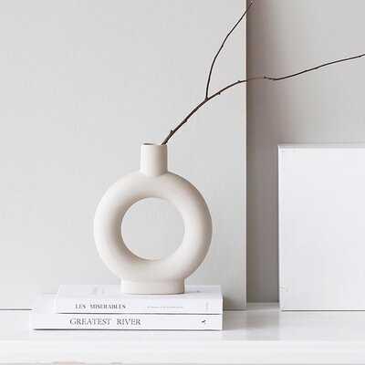 Ceramic Minimalist Vase, Minimalist Bisque, Handmade Ceramic Vase - Wayfair