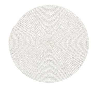 Woven Round Placemat, Each - Ivory - Pottery Barn