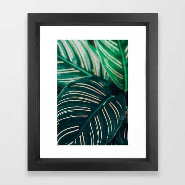 Calathea Leaves Framed Art Print by Olivia Joy St.claire - Cozy Home Decor, - Vector Black - X-Small-10x12 - Society6