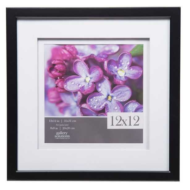 Gallery 8 in. x 8 in. Black Double Mat Picture Frame - Home Depot