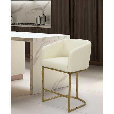 Stevan Bar Stool in Gold Frame - Wayfair