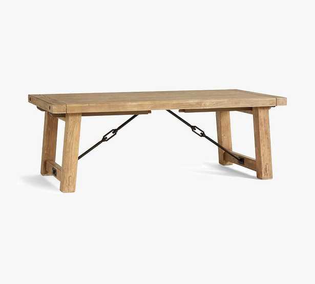 "Benchwright Extending Dining Table, Smoked Nutmeg/Bronze, 86"" - 122"" - Pottery Barn"