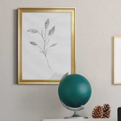 Floral Sketch Ii - Picture Frame Print on Canvas - Wayfair